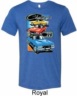 Mens Dodge Shirt Challenger Trio Tri Blend Crewneck Tee T-Shirt