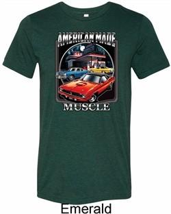 Mens Dodge Shirt Chrysler American Made Tri Blend Crewneck Tee T-Shirt
