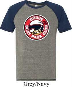 Mens Dodge Shirt Dodge Scat Pack Club Tri Blend Tee T-Shirt