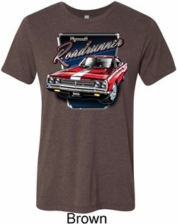 Mens Dodge Shirt Plymouth Roadrunner Tri Blend Crewneck Tee T-Shirt