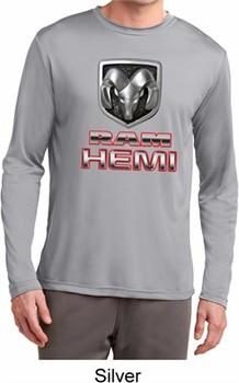 Mens Dodge Shirt Ram Hemi Logo Dry Wicking Long Sleeve Tee T-Shirt