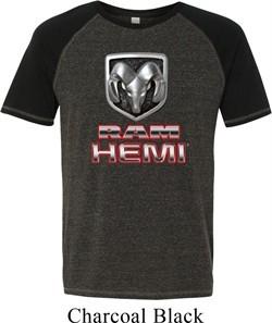 Mens Dodge Shirt Ram Hemi Logo Tri Blend Tee T-Shirt