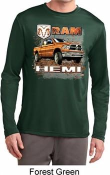 Mens Dodge Shirt Ram Hemi Trucks Dry Wicking Long Sleeve Tee T-Shirt