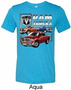 Mens Dodge Shirt Ram Trucks Tri Blend Crewneck Tee T-Shirt
