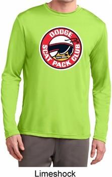 Mens Dodge Shirt Scat Pack Club Dry Wicking Long Sleeve Tee T-Shirt