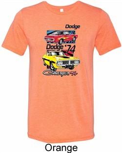 Mens Dodge Shirt Vintage Chargers Tri Blend Crewneck Tee T-Shirt