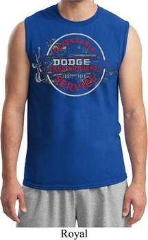 Mens Dodge Shirt Vintage Dodge Sign Muscle Tee T-Shirt