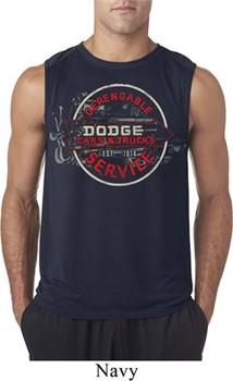 Mens Dodge Shirt Vintage Dodge Sign Sleeveless Tee T-Shirt