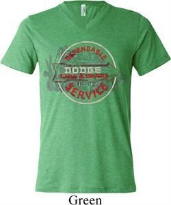 Mens Dodge Shirt Vintage Dodge Sign Tri Blend V-neck Tee T-Shirt
