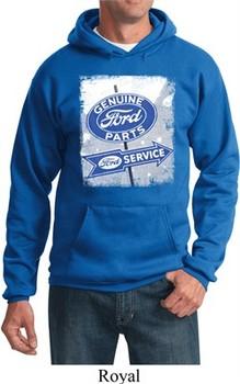 Mens Ford Hoodie Vintage Sign Genuine Ford Parts Hoody