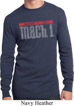 Mens Ford Shirt 50 Years Mach 1 Long Sleeve Thermal Tee T-Shirt