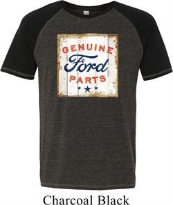 Mens Ford Shirt Distressed Genuine Ford Parts Tri Blend Tee T-Shirt