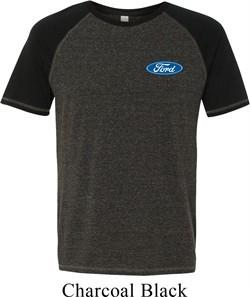 Mens Ford Shirt Ford Oval Pocket Print Tri Blend Tee T-Shirt