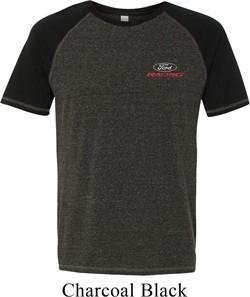 Mens Ford Shirt Ford Racing Pocket Print Tri Blend Tee T-Shirt