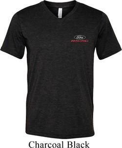 Mens Ford Shirt Ford Racing Pocket Print Tri Blend V-neck Tee T-Shirt