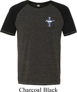 Mens Ford Shirt Legend Lives Crest Pocket Print Tri Blend Tee T-Shirt