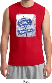 Mens Ford Shirt Vintage Sign Genuine Ford Parts Muscle Tee T-Shirt