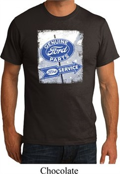 Mens Ford Shirt Vintage Sign Genuine Ford Parts Organic Tee T-Shirt