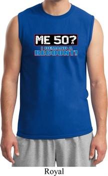 Mens Funny Birthday Shirt Me 50 Muscle Tee T-Shirt