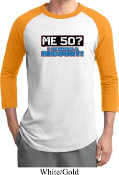 Mens Funny Birthday Shirt Me 50 Raglan Tee T-Shirt