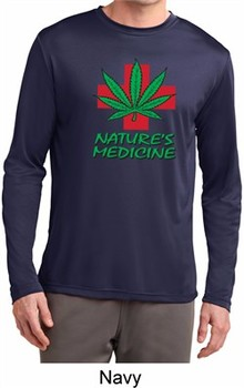 Mens Funny Shirt Natures Medicine Dry Wicking Long Sleeve Tee T-Shirt