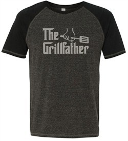 Mens Funny Shirt The Grill Father Tri Blend Tee T-Shirt