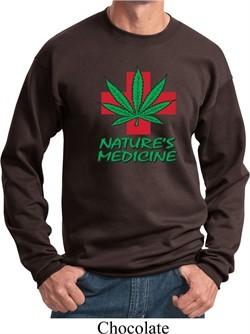 Mens Funny Sweatshirt Natures Medicine Sweat Shirt