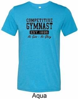 Mens Gymnastics Shirt Competitive Gymnast Tri Blend Crewneck T-Shirt