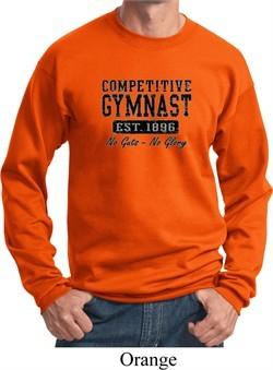 Mens Gymnastics Sweatshirt Competitive Gymnast Sweat Shirt