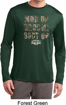Mens Mossy Oak Mud Up or Shut Up Dry Wicking Long Sleeve
