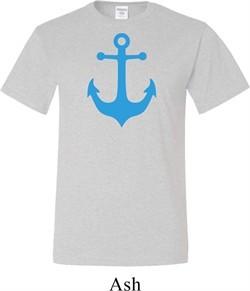 Mens Sailing Shirt Blue Anchor Tall Tee T-Shirt