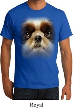 Mens Shih Tzu Shirt Big Shih Tzu Face Organic T-Shirt