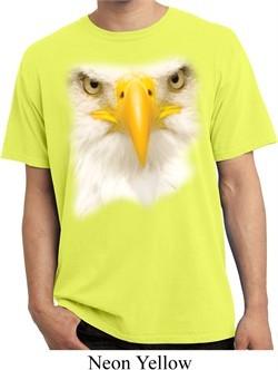 Mens Shirt Big Bald Eagle Face Pigment Dyed Tee T-Shirt
