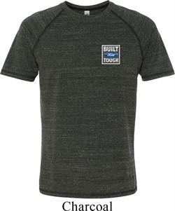 Mens Shirt Built Ford Tough Crest Pocket Print Tri Blend Tee T-Shirt