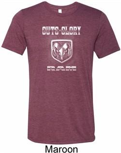 Mens Shirt Guts and Glory Ram Logo Tri Blend Crewneck Tee T-Shirt
