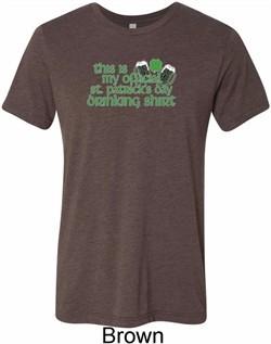 Mens Shirt My Official Drinking Shirt Tri Blend Crewneck Tee T-Shirt