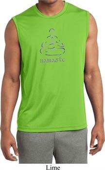 Mens Shirt Namaste Lotus Pose Sleeveless Moisture Wicking Tee T-Shirt