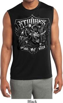 Mens Shirt Stooges Bike Week Sleeveless Moisture Wicking Tee T-Shirt