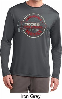 Mens Shirt Vintage Dodge Sign Dry Wicking Long Sleeve Tee T-Shirt