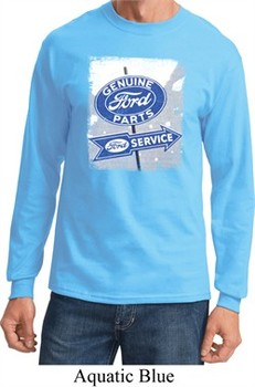 Mens Shirt Vintage Sign Genuine Ford Parts Long Sleeve Tee T-Shirt