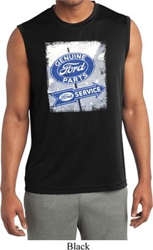 Mens Shirt Vintage Sign Genuine Ford Sleeveless Moisture Wicking Tee