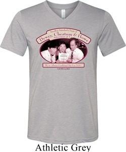 Mens Three Stooges Shirt Attorneys at Law Tri Blend V-neck T-Shirt