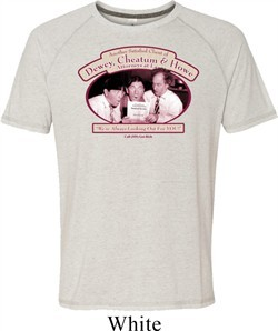 Mens Three Stooges Shirt Attorneys at Law White Tri Blend Tee T-Shirt