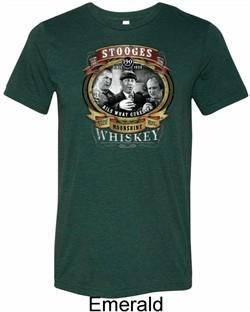 Mens Three Stooges Shirt Moonshine Whiskey Tri Blend Crewneck Tee