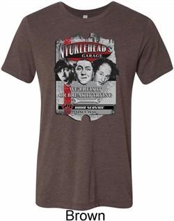 Mens Three Stooges Shirt Nyukleheads Garage Tri Blend Crewneck Tee