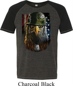 Mens USA Tee American Eagle Tri Blend T-shirt