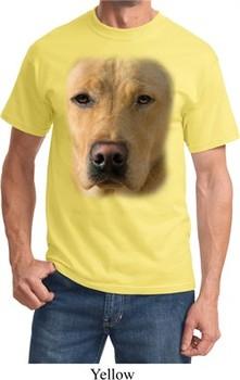 Mens Yellow Lab Shirt Big Yellow Lab Face Tee T-Shirt
