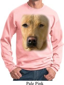 Mens Yellow Lab Sweatshirt Big Yellow Lab Face Sweat Shirt