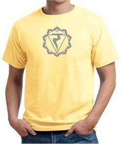 Mens Yoga Shirt Manipura Chakra Meditation Organic T-shirt