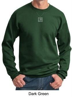 Mens Yoga Sweatshirt ? Aum Charm Meditation Sweat Shirt
